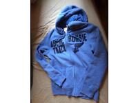 Abercrombie and fitch men's blue hoodie