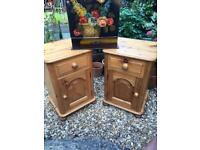 Pair of Chunky pine bedside cabinets