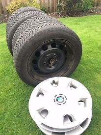 BMW winter tyres, wheels, and trims £120