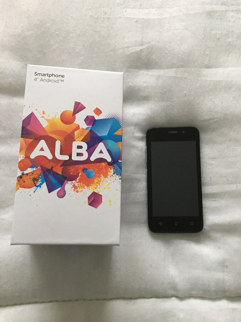 Smartphone 4Android tm Albain Pentwyn, CardiffGumtree - Hi There, ive only had this mobile for a week. Simple and easy to use, this Alba smartphone offers great value. With front and rear cameras, 8GB storage and Android 5.1 Lollipop software, its ideal for every day use. Keep in touch with family and...