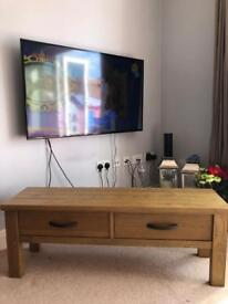 Solid Wood Tv/drawer unit L123cm x W35cm x H44cm