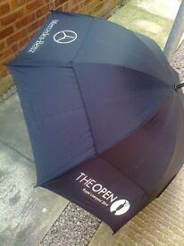 Mercedes Benz golf umbrella - The Open Royal Liverpool 2014