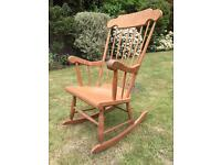 Solid Antique Pine Rocking Chair