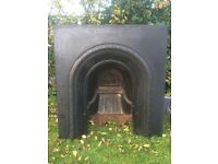 Reclaimed Slate Fire Surround and Cast Iron Fireplace