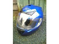 FM by Fimez Full Face Motorbike Crash Helmet (Blue) - Size L