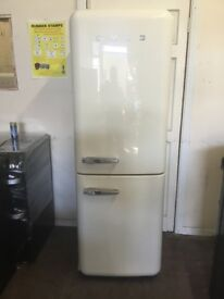 Smeg fridge freezer cream 3 months warranty free local delivery!!!!!!!!!