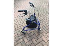 3 wheel folding lightweight walker