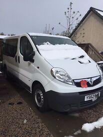 Vauxhall Vivaro, 9 seat mini-bus