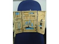 Wooden child's real tool set