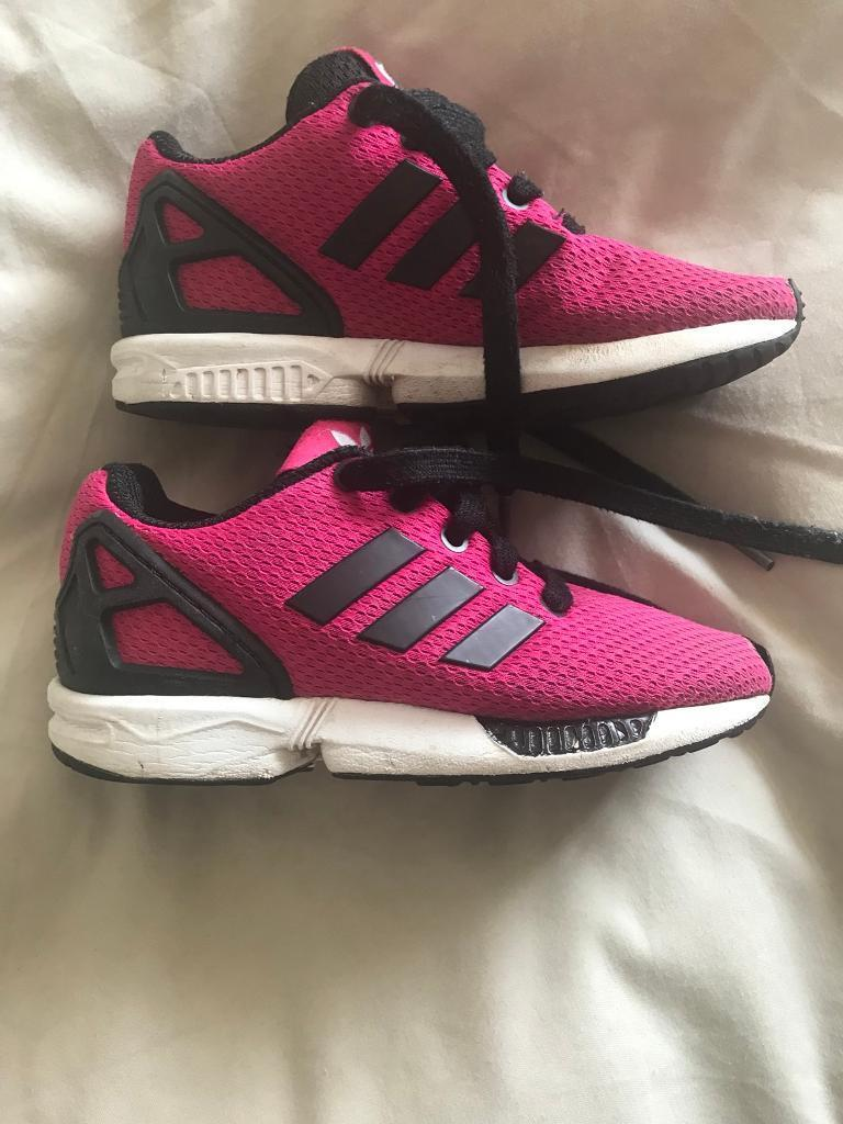 30e0fbe35195f CHILDRENS ADIDAS ZX FLUX TRAINERS