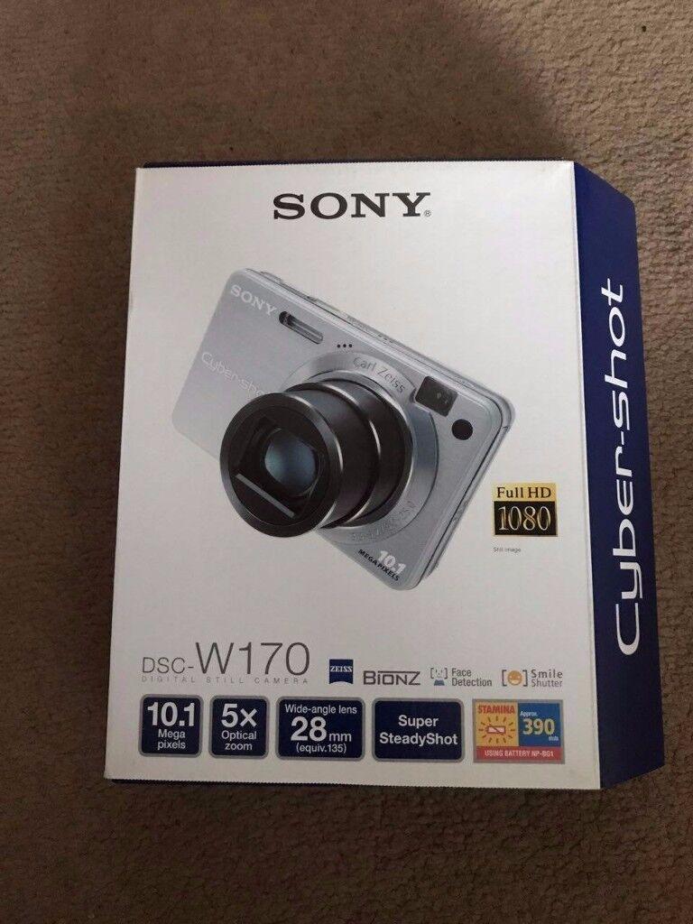 Sony Cyber-shot DSC-W170 10.1MP Digital Camera - Black