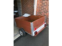 Small trailer and cover