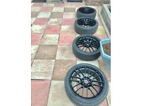 """4 X Alloys 17"""" with tyres. Multi Fit!! £150 Or Near."""