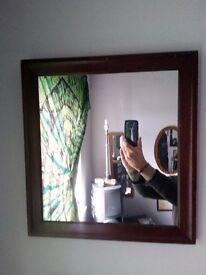 Wooden Framed Square(ish) Mirror