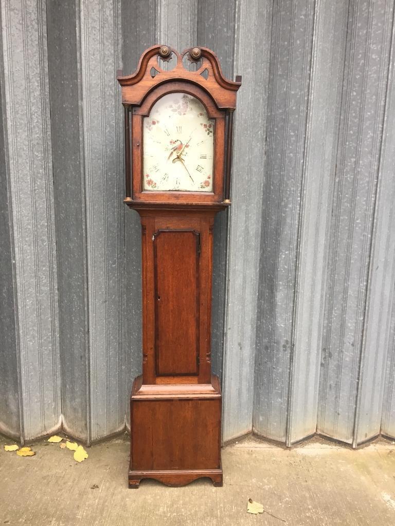 Oak grandfathers clock case