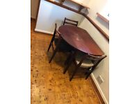 Dining Table and 3 Wooden Chairs