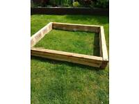 Timber to build your own raised flower bed