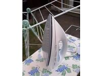 TEFAL STEAM IRON WITH IRONING BOARD AND DRYER