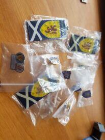 Set of Scotland Football Pin Badges and Keyrings