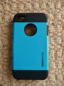 Blue and Black Slim Armor Apple iphone 4s Case / Cover Mobile Phone Accessories