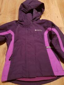 Mountain Warehouse waterproof jacket girls