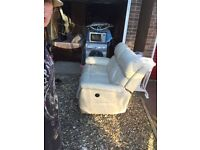 Leather two seater electric recliner