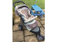 Mothercare Urban Detour Travelsystem-pushchair, carrycot, car seat, rain covers and change bag.