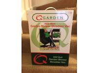 Q Garden 3 in 1 leaf blower vacuum & shredder. Brand New
