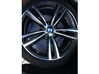 "Like new BMW 3 & 4 series 19"" Msport double spoke alloy wheels with like new Pirelli P Zero run flat"