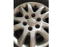 17 inch 6 stud 5 alloy wheels in excellent condition with 5 tyres going very cheap