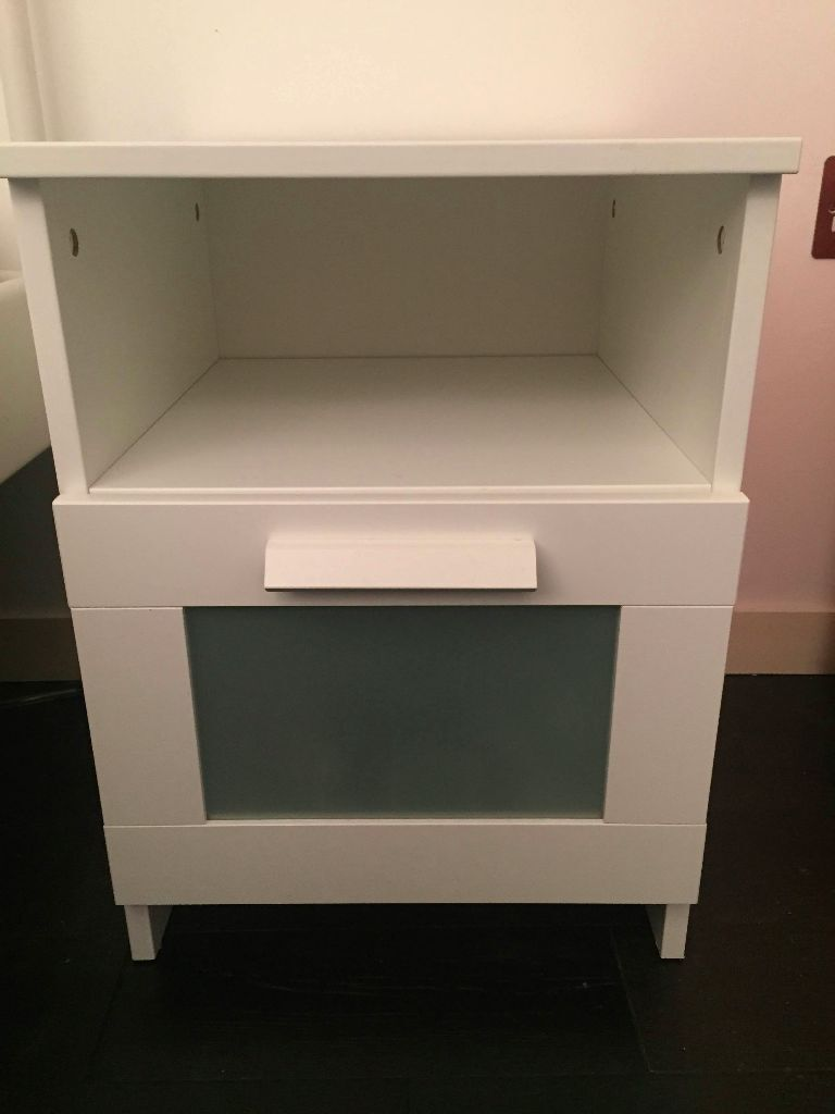 Ikea BRIMNES Bedside Table White Like New In Hoxton London - Brimnes ikea bedside table