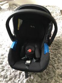 Silver cross black car seat