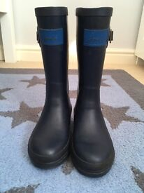 JOULES Child's Wellington boots Size11 navy blue, in good condition