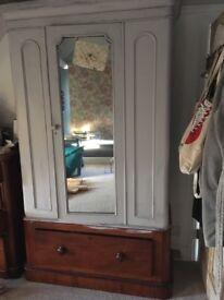 Beautiful half painted wardrobe