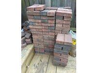 Red and grey paving bricks