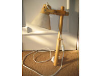 Rare wooden height adjustable swivel lamp, light, anglepoise style, DIY project, vintage, props