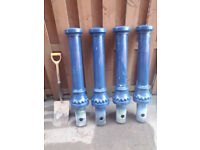 4 Unused Cast Iron Pillars