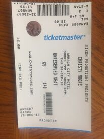 Christy Moore ticket, Armagh city hotel. This Thursday.