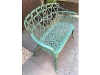 2 seater cast iron effect bench