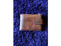 Marks and spencer light brown Italian leather wallet