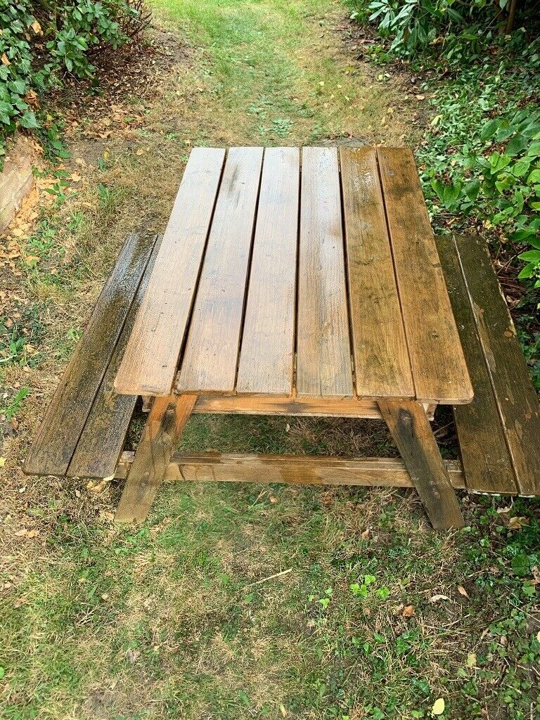 Marvelous Childrens Wooden Picnic Table And Sandpit In Needham Market Suffolk Gumtree Pabps2019 Chair Design Images Pabps2019Com