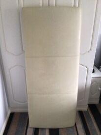 King size headboard 5ft cream leather