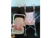 bungle of toys baby DOLL, BABY ANNABELL ,PEPPA PIG