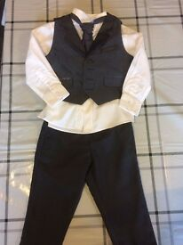 Bluezoo boy's suit/pageboy outfit, age 2-3 years old, with tie and waistcoat
