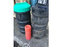 Plastic waterproof containers for flares or spare parts