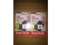 One SanDisk Ultra 32GB/16GB microSDHC Memory Card