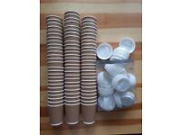 80 brand new paper cups & lids