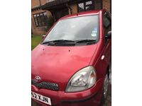 Toyota Yaris 2002. Mot 09/18. 1 owner. 81k miles. Petrol. 1 litre. Clean inside and out