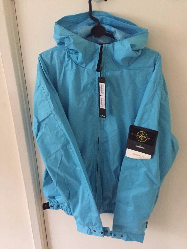 Turquoise Stone Island Membrana Jacket