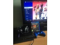 PS4 with Game and Headset
